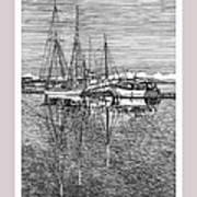 Reflections Of Port Orchard Washington Art Print by Jack Pumphrey