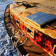 Port Side Down Captain - Outer Banks Art Print