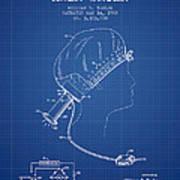 Portable Hair Dryer Patent From 1968 - Blueprint Art Print