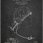 Portable Hair Dryer Patent From 1968 - Charcoal Art Print