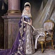 Portait Of Empress Maria  Fyodorovna Art Print
