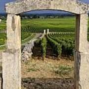 Portal  Of Vineyard.burgundy. France Art Print by Bernard Jaubert
