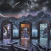 Portals to alternate universes, artwork Art Print