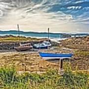 Portencross Harbour At Low Tide Art Print