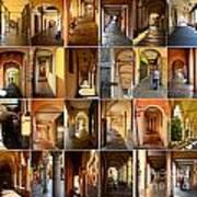 Porticos Of Padua Combined Art Print