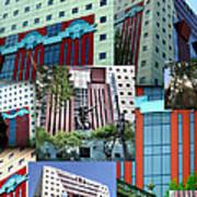 Portland Building Collage Art Print