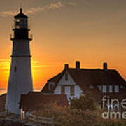Portland Head Light At Sunrise IIi Art Print