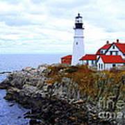 Portland Head Light House In Maine Art Print