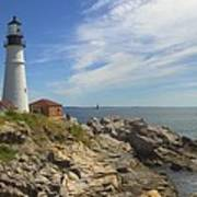 Portland Head Lighthouse Panoramic Art Print