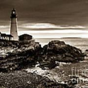 Portland Head Lighthouse Sunrise Art Print