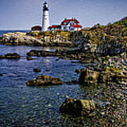 Portland Headlight 37 Oil Art Print