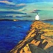 Portland Maine Harbor Art Print