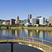 Portland Oregon Downtown Skyline Reflection 4 Art Print
