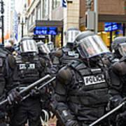 Portland Police In Riot Gear Art Print
