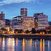 Portland Skyline Pm2 Art Print