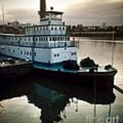 Portland Steam Sternwheeler  Tugboat Art Print