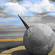 Portmanuck Sphere Ireland Art Print by Jo Collins