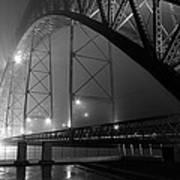 Porto @ Night Fog Art Print