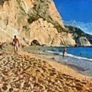 Porto Katsiki Beach In Lefkada Island Art Print