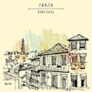Porto, Portugal, Europe. Street In Old Art Print