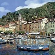 Portofino Art Print by Guido Borelli