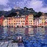 Portofino In Italy Art Print