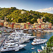 Portofino Summer Afternoon Art Print by George Oze
