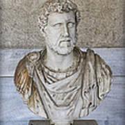 Portrait Bust Of The Emperor Antoninus Plus Art Print by Radoslav Nedelchev