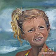 Portrait - Emma - Beach Art Print