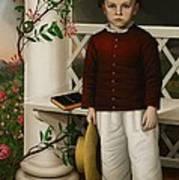 Portrait Of A Boy Art Print by James B Read