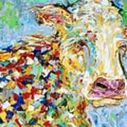 Portrait Of A Cow Art Print