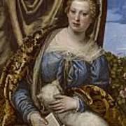 Portrait Of A Lady As Saint Agnes Art Print