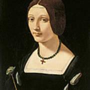 Portrait Of A Lady As Saint Lucy Art Print