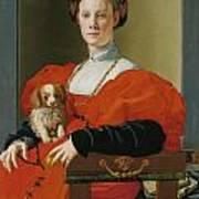 Portrait Of A Lady With A Lapdog Art Print