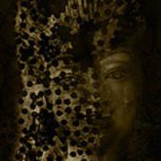 Portrait Of A Leopardess  Art Print