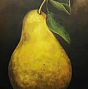 Portrait Of A Pear Art Print
