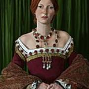Portrait Of A Tudor Lady Art Print