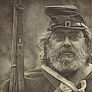 Portrait Of A Union Soldier Art Print by Pat Abbott