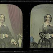 Portrait Of A Woman, Antoine Francois Jean Claudet Art Print