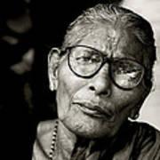 Portrait Of A Woman In Madurai Art Print