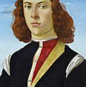 Portrait Of A Young Man Ghirlandaio Art Print