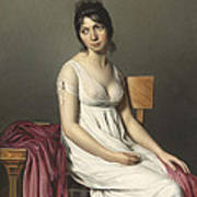 Portrait Of A Young Woman In White Art Print by Jacques Louis David