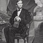 Portrait Of Abraham Lincoln Art Print by Alonzo Chappel
