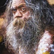Portrait of an aboriginal Art Print