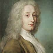 Portrait Of Antoine Watteau 1684-1721 Pastel On Paper Art Print