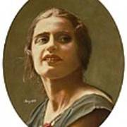 Portrait Of Ayn Rand Art Print