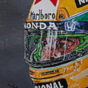 Portrait Of Ayrton Senna Art Print