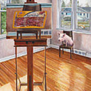 Portrait Of Bacon Art Print by Thomas Weeks