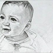 Portrait Of Ben Pencil Drawing Art Print