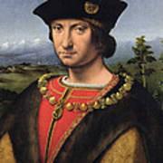 Portrait Of Charles Damboise 1471-1511 Marshal Of France Oil On Panel Art Print
